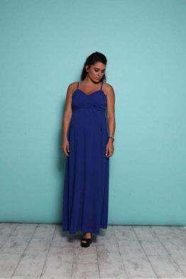 שמלת מקסי קלאסי – כחול