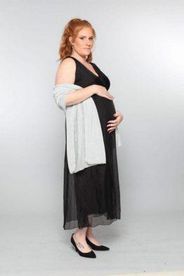 שמלת משולשים קימוט – שחור