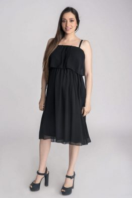 שמלת וולן קצרה – שחור