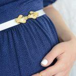 חגורת הריון סגירה קדמית – צדפות כסף