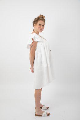 שמלת הריון/הנקה כותנה קצרה