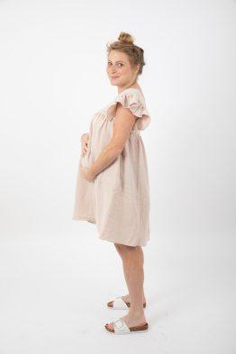 שמלת הריון / הנקה כותנה קצרה