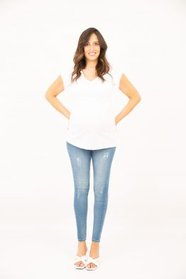 ג'ינס סקיני קרעים בהיר