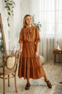 שמלת מקסי הנקה שכבות